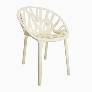Chair Cream Plastic Vegetal Chair from Vitra