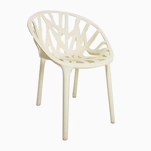 Cremefarbener Kunststoff Stuhl von Vitra
