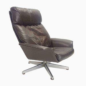 Vintage Fuß Sessel aus Leder, 1970er