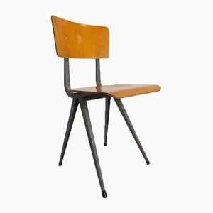 Chaise d'École Industrielle Vintage en Contreplaqué de Marko