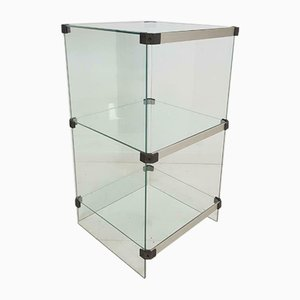 Vintage Hollywood Regency Italian Glass Display Case, 1970s