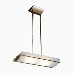 Brass and Opaline Glass Model T-1248 Pendant Lamp from Estiluz