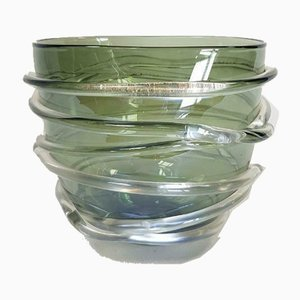 Vintage Italian Handblown Murano Glass Vase Bowl