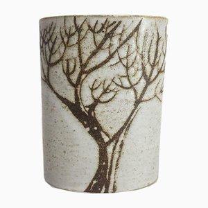 Vintage Boothbay Maine Vase aus Steingut von Anderson