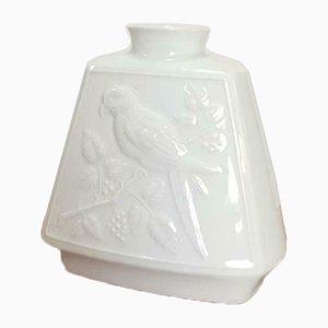 Vase Oiseau Vintage en Porcelaine Blanche de Wunsiedel Bavaria