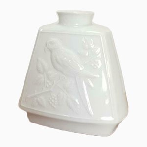 Vintage White Porcelain Bird Vase from Wunsiedel Bavaria