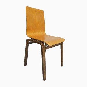 Chaise Vintage en Contreplaqué et Bois Courbé, Danemark