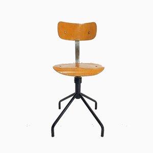 Industrieller Vintage Zeichen Stuhl aus Holz, 1960er