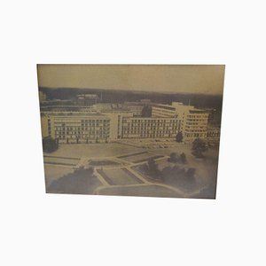 Vintage Photo on Copper Plate Philips Strijp T Building