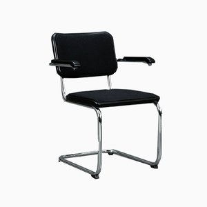 Black Fabric S64 Chair from Thonet, 1990s