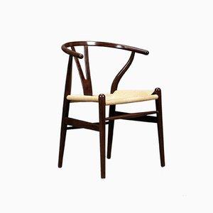 Wishbone Chair CH24 in Braun von Hans Wegner für Carl Hansen, 2000er
