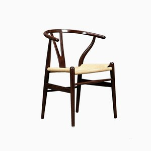 Wishbone Chair CH24 in Brown by Hans Wegner for Carl Hansen, 2000s