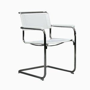 Chaise S34 Moderne en Cuir Blanc de Thonet, 1990s