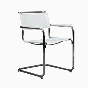 Modern White Leather S34 Chair from Thonet, 1990s