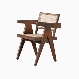 Office Cane Chair by Pierre Jeanneret for Chandigarh, India, 1950s