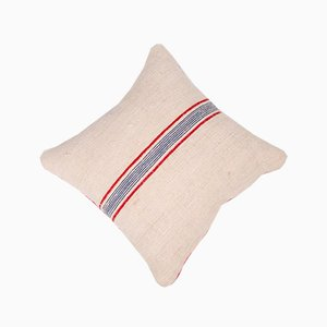 Vintage French Burlap Striped Cushion