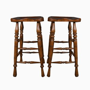 Vintage Elm and Ash Bar Stool