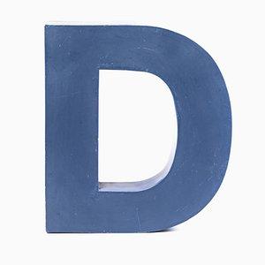 Letter D Sign, 1980s
