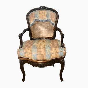 Louis XV Walnuss Cabriolet Sessel, 2er Set