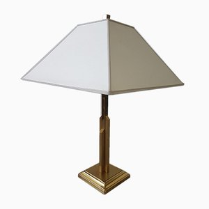 Large Brass Model Skyscraper Table Lamp from Deknudt, 1970s