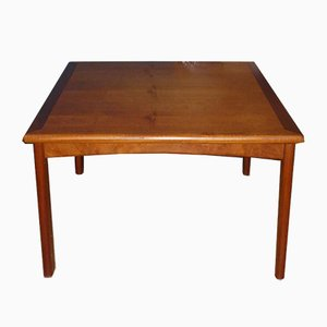 Mid-Century Square Teak Coffee Table, 1960s