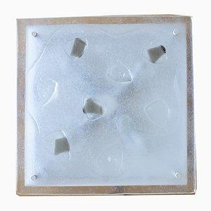 Quadratische Deckenlampe aus Muranoglas, 1960er