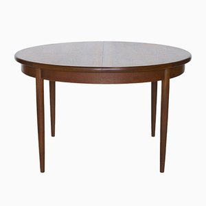 Extendable Round Teak Dining Table from G-Plan, 1960s