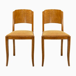 Art Deco French Dining Chairs, 1930s, Set of 4