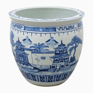 Vintage Chinese Blue Pot, 1960s