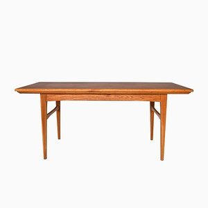 Mid-Century Swedish Teak Adjustable Coffee Table, 1960s