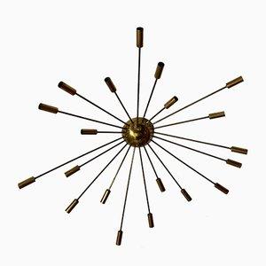 Italienische Sputnik Deckenlampe aus Messing Stilnovo, 1950er