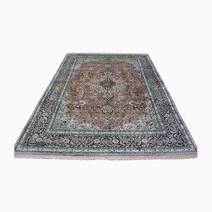 Indischer Handgeknüpfter Teppich aus Kaschmirseide auf Baumwolle, 2001