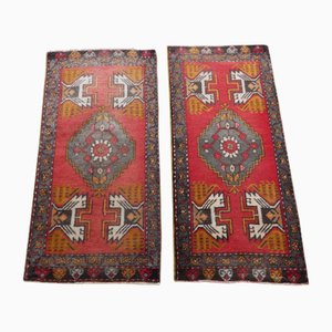 Small Vintage Turkish Rugs, 1970s, Set of 2