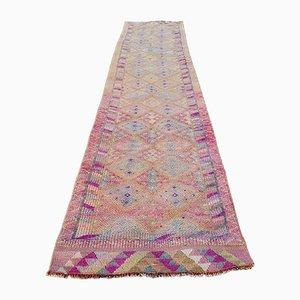 Vintage Turkish Distressed Herki Runner Rug, 1970s