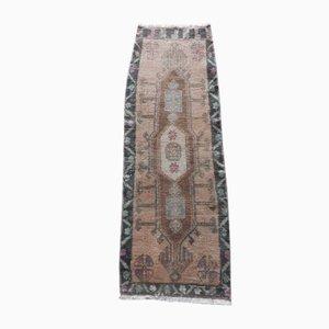 Vintage Turkish Handmade Low Pile Oushak Yastik Rug, 1970s