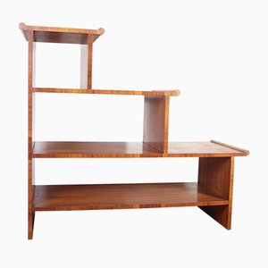 Art Deco Walnut Shelf, 1920s