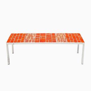 Belgian Ceramic Tiled Coffee Table by Rogier Vandeweghe for Amphora, 1960s