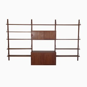Danish Teak & Brass Modular Wall Unit by Sven Ellekaer for Hansen Albert, 1960s