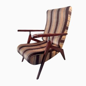 Mid-Century Walnut Model Piuma Lounge Chairs by Antonio Gorgone, Set of 2