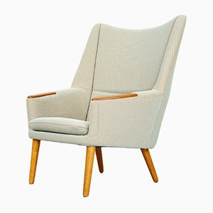 Danish Teak and Oak Lounge Chair by Kurt Østervig, 1958
