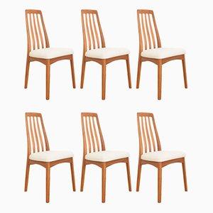 Chaises de Salon Mid-Century en Teck par Benny Linden, 1970s, Set de 6