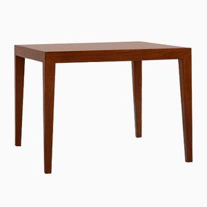 Mid-Century Danish Square Rosewood Side Table by Severin Hansen for Haslev