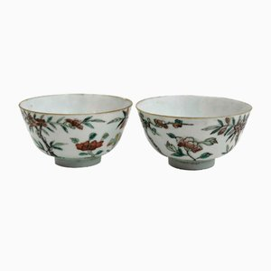 18th Century Chinese Soup Bowls, Set of 2