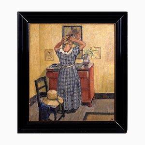 Antikes Öl auf Leinwand von Knud Ove Hilkier, 1900er