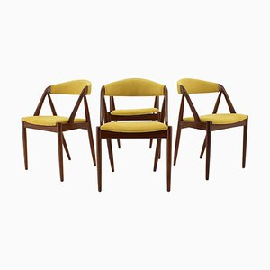 Teak Esszimmerstühle von Kai Kristiansen, 1960er, 4er Set