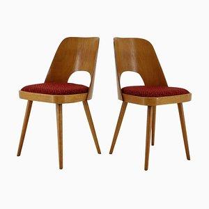Eichenholz Esszimmerstühle von Thonet, 1960er, 2er Set