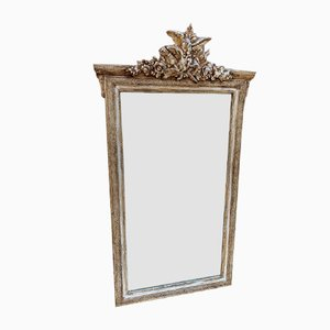19th Century French Decorative Painted Mirror