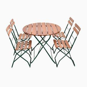 Deutsches Vintage Tisch und Stühle Patio Set, 5er Set