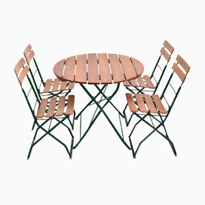 Vintage German Table and Chairs Patio Set, Set of 5