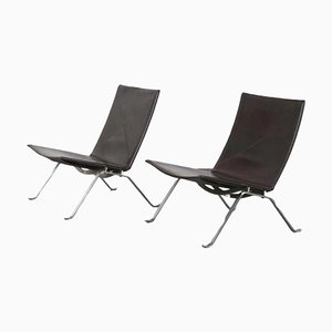 PK22 Lounge Chairs by Poul Kjaerholm for Fritz Hansen, Denmark, 1960s, Set of 2